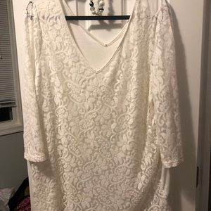 Off white lace tunic
